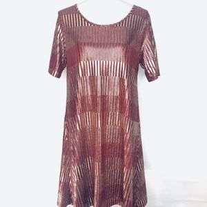 Red and gold Metallic Dress